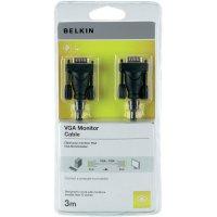 Připojovací kabel k monitoru Belkin VGA, 3 m, černý