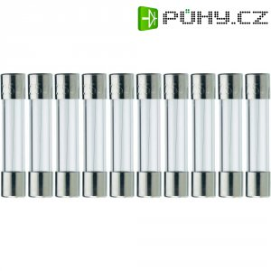 Jemná pojistka ESKA rychlá 525618, 250 V, 1,25 A, skleněná trubice, 5 mm x 25 mm, 10 ks