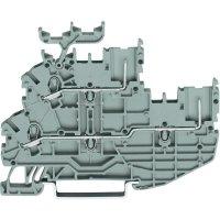Hlavní svorka WAGO 2020-2233, osazení: L, N, pružinová svorka, 3.50 mm, šedá, 1 ks