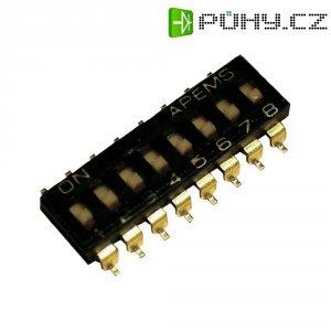 DIP spínač APEM IKL0203000, 500 V/DC, rastr 2,54 mm, SMD, 2pól.