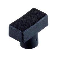 Krytka tlačítka, obdélník, černá