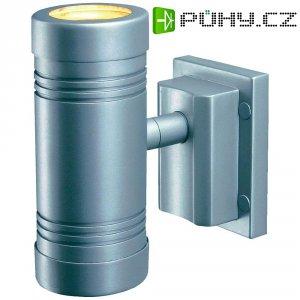 Venkovní halogenové svítidlo SLV Myra Up-Down, 2x 50 W, GU10, stříbrná/šedá