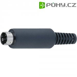 Mini DIN konektor BKL Electronic 0204003, Pólů: 5, černá, 1 ks