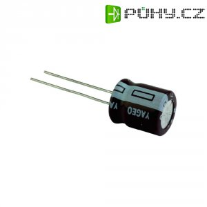 Kondenzátor elektrolytický Yageo SE016M1500B5S-1019, 1500 µF, 16 V, 20 %, 19 x 10 mm