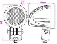 Pracovní světlo LED 10-30V/10W dálkové