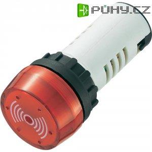 Sirénka, 80 dB 12 V/DC, 22 mm, červená