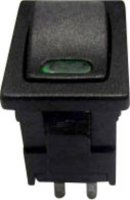 Kolébkový spínač SCI R13-66L-02 s aretací 250 V/AC, 6 A, 1x vyp/zap, černá, 1 ks