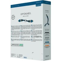 Kabel Toslink (ODT) vidlice ⇒ vidlice, 3 m, modrý, Inakustik