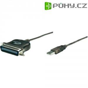 Adaptér Manhattan USB 1.1 paralelní/paralelní k tiskárně, šedý, 1,8 m