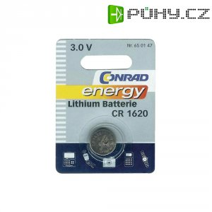 Knoflíková baterie Conrad energy CR1620, lithium