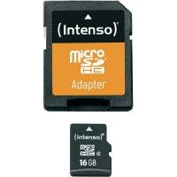 Pamětová karta Intenso microSDHC 16 GB Class 4 + SD