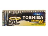 Baterie AA(LR6) alkalická TOSHIBA (folie 20ks)