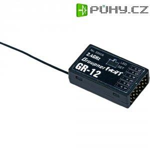 Přijímač Graupner GR-12 HoTT, 2,4 GHz FHSS, 6 kanálů, JR