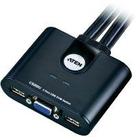 KVM switch Aten pro USB a VGA-Grafik, 2-portový