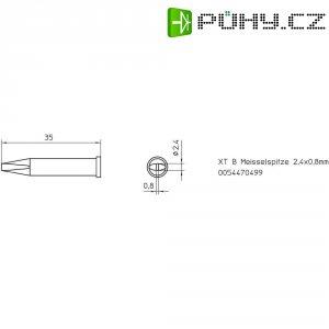 Pájecí hrot dlátový Weller XT-B, Velikost hrotů 2.4 mm 1 ks