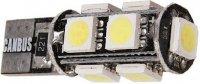 Žárovka LED T10 12V/ 2,3W bílá, CAN-BUS, 9xSMD5050