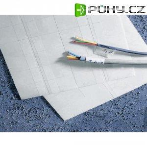 Značkovače kabelů Idento 5-1768016-7, samolepicí, 20 ks, 75 x 23 mm, bílá