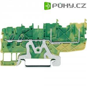 Řadová svorka 2vodičová Wago 2020-1407, pružinová, 3,5 mm, zelenožlutá