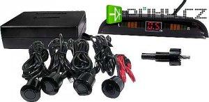 Parkovací alarm se 4 senzory a LED displejem