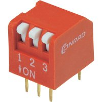 DIP spínač DPR-03, 10,6 x 9,7 mm, 3pól.