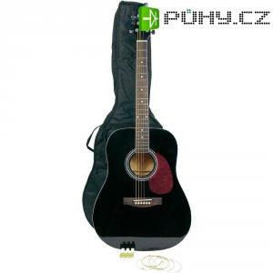 Sada westernové kytary Tenayo, velikost 4/4, černá