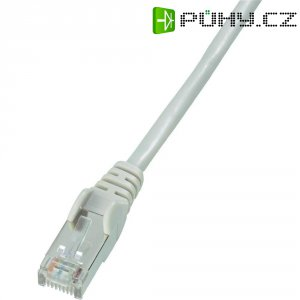 Patch kabel CAT 5e SF/UTP RJ 45, vidlice ⇔ vidlice, 1 m, šedý