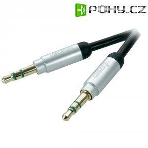 Připojovací kabel Vivanco, jack zástr. 3.5 mm/jack zástr. 3.5 mm, černý, 0,3 m