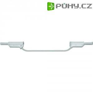 Měřicí silikonový kabel banánek 4 mm ⇔ banánek 4 mm MultiContact XVS-4075, 0,25 m, bílá