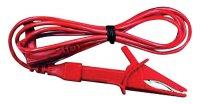 Šňůra měřicí - krokosvorka/ 120cm (CAT II) červená
