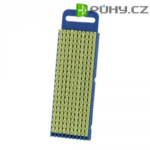 Ident. klips WICR pro prům. 4,3 - 5,3 mm, 100 ks - žlutá