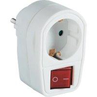 Mezizásuvka s vypínačem, 2pólová, 3500 W, bílá