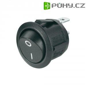 Kolébkový spínač, s aretací, 250 V/AC, 6 A, černá