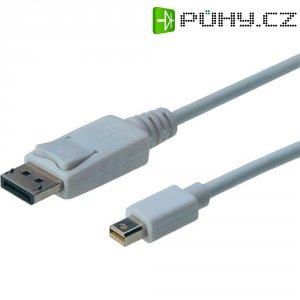 Kabel DisplayPort vidlice ⇔ vidlice mini DisplayPort, 3 m, bílý