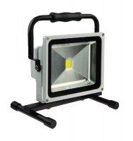 Solight LED venkovní reflektor, 30W, 2400lm, AC 230V, šedá, stojan