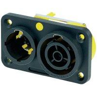 Kombinovaná síťová zásuvka Neutric Powercon True 1, 250V, 16 A, vertikální, NAC3PX