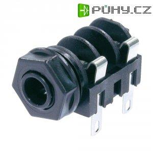 Jack konektor 6,35 mm mono Neutrik NMJ4HF-S, zásuvka vestavná horizontální, 2pól., černá