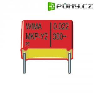 Odrušovací kondenzátor Wima MKPY2, 1000 pF, 300 V/AC, 10 %, 13 x 4 x 9,5 mm
