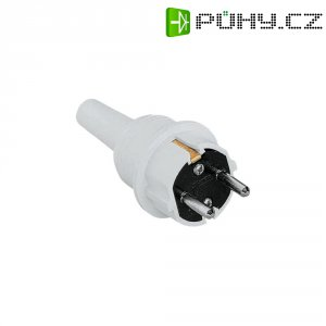 Zástrčka bílá PVC
