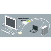 Přepínač se 2 porty Belkin, USB a audio s dálkovým ovládáním