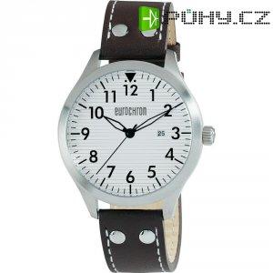 Ručičkové náramkové hodinky Eurochron Pilot F21 Quartz, kožený pásek, černá