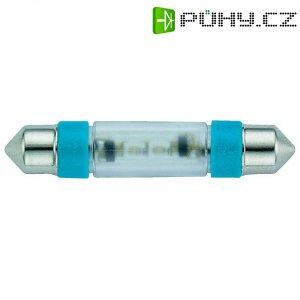 LED žárovka Signal Construct MSOE083942, 12 V DC/AC, modrá, podlouhlá