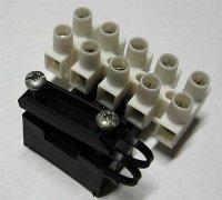 Svorkovnice lámací 5x4mm2 s držákem kabelu