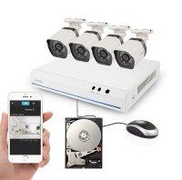 Kamera set ZMODO 720P sPoE 8CH NVR + 4x IP CAM + 1TB HDD digitální