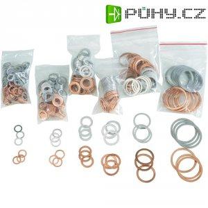 Sada těsnicích kroužků, DIN 7603, měď/hliník, 650 ks
