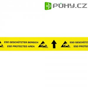 ESD značkovací páska na podlahu BJZ C-195 075, 15 m x 70 mm, žlutá