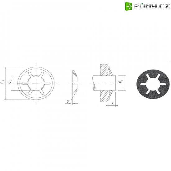 Pojistná podložka 5 mm, 20 ks - Kliknutím na obrázek zavřete