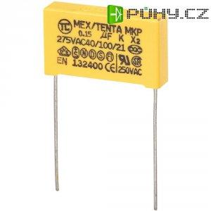 Foliový kondenzátor MKP, 0,15 µF, X2 275 V/AC, 10 %, 26,5 x 6 x 15 mm