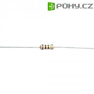 Uhlíkový rezistor, 220 kΩ, 0411, axiální vývody, 0,5 W, 5 %