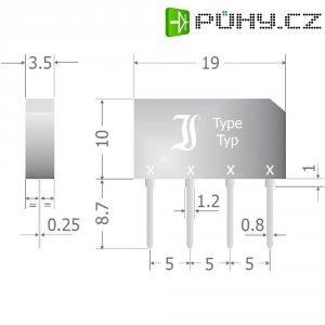 Křemíkový můstkový usměrňovač Diotec B40C2300-1500B, U(RRM) 1000 V, 3,3 A, SIL