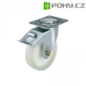 Otočné kolečko s konstrukční deskou a brzdou, Ø 75 mm, Blickle 481457, LE-PO 75G-FI